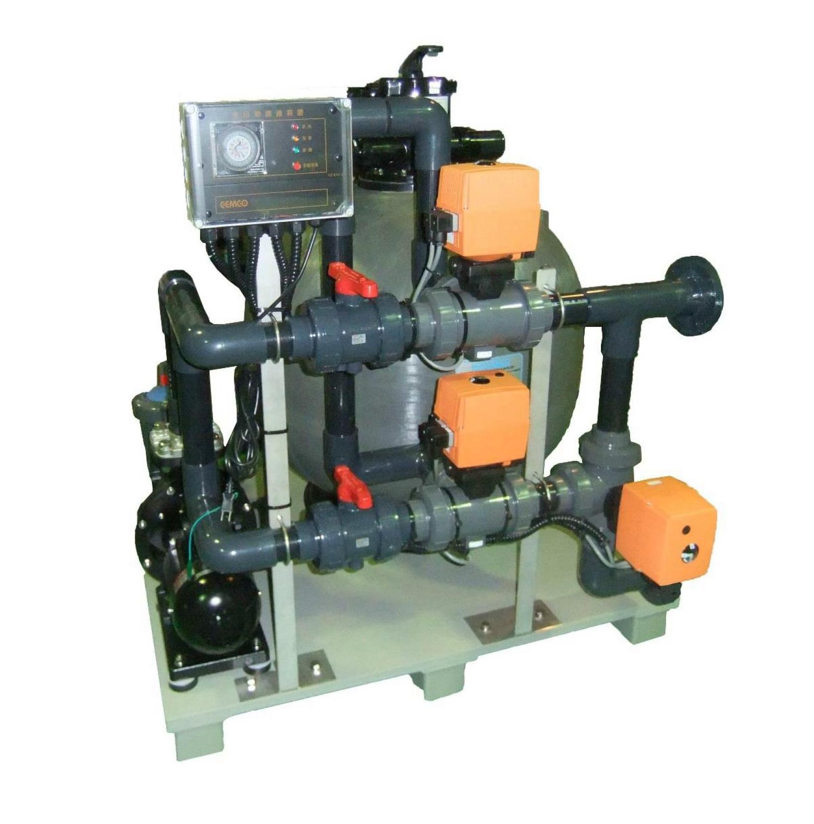 海水紫外線殺菌の効率UPに最適なろ過器ユニット