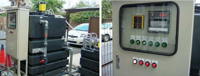 透析排水の中和装置